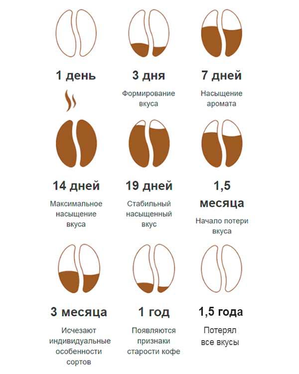 Срок годности кофе после обжарки
